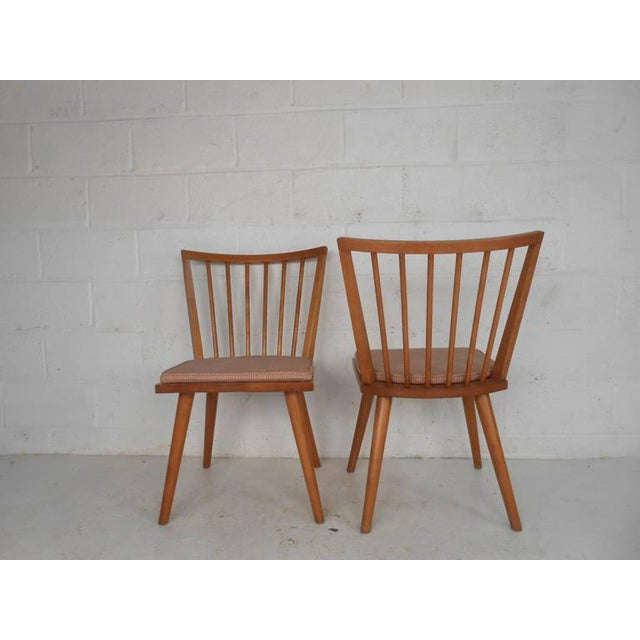 Mid-Century Modern Leslie Diamond for Conant-Ball Mid-Century Chairs - Set of 4 For Sale - Image 3 of 11