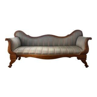 Late 19th Century Vintage Cinematic Biedermeier Sofa For Sale