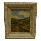 "Image of Transitional F. Shaffer ""Country Road"" Painting For Sale"
