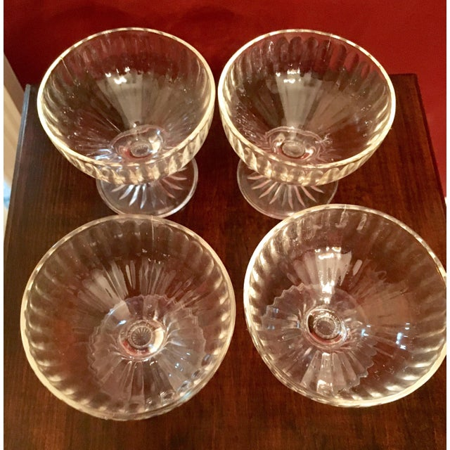 Mid-Century Ribbed Champagne Coupes - Set of 4 - Image 4 of 7