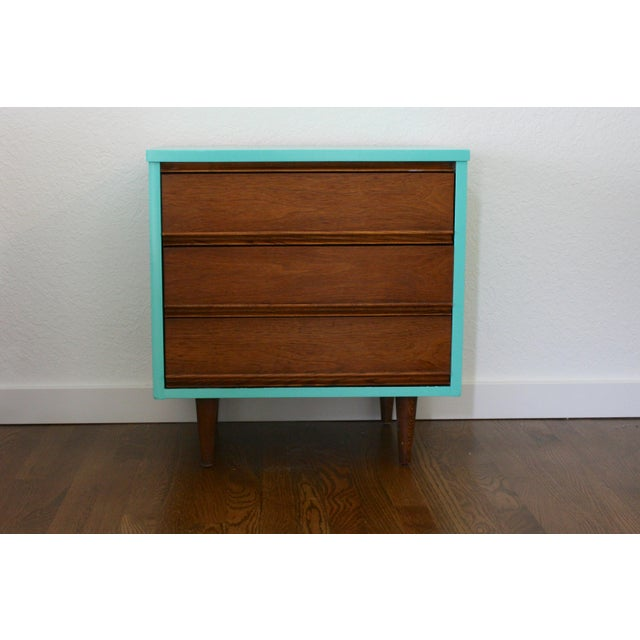 Blue 1960s Danish Modern Dixie Two-Tone Aqua Nightstand For Sale - Image 8 of 8