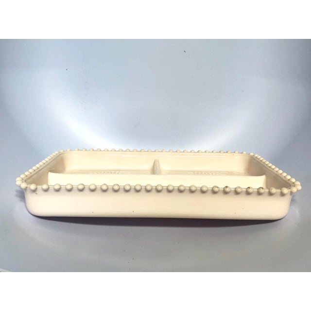 Cottage 1950s Mid-Century Modern Fostoria Pink Serving Dish For Sale - Image 3 of 5