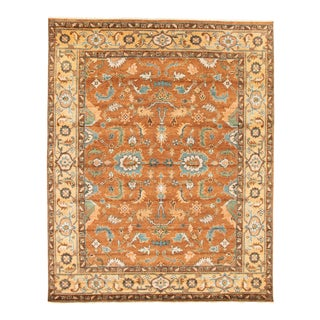 """Bohemian Hand-Knotted Rug, 8'0"""" X 9'9"""" For Sale"""