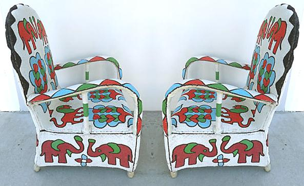 Superieur Nigerian Yoruba Tribe Beaded Chairs   A Pair   Image 2 Of 9