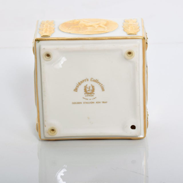 1960s Mid-Century Modern Lenox 24k Gold Stallion Ash Tray Designer's Collection For Sale - Image 5 of 6