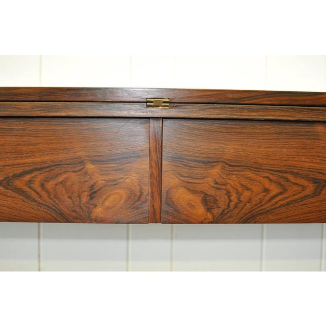 Rosewood Flip Top Rosewood Console by Arne Hovmand-Olsen For Sale - Image 7 of 8