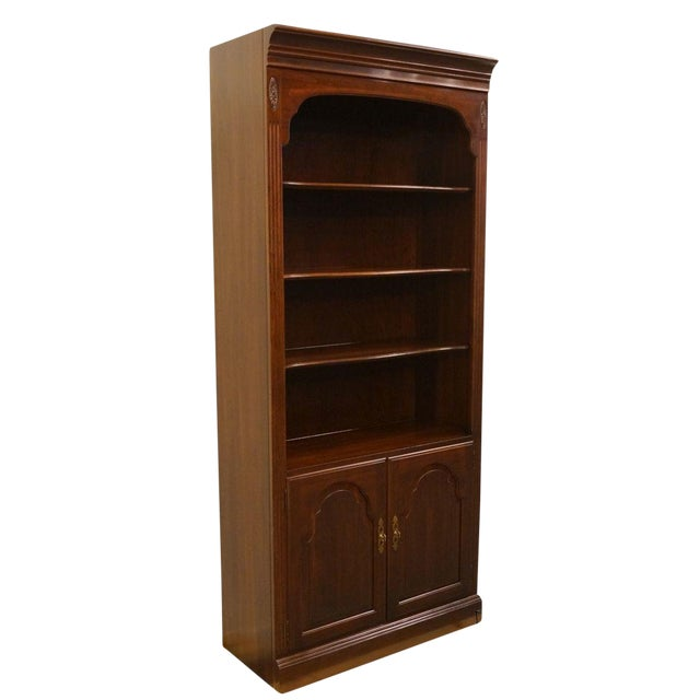 Late 20th Century Vintage Ethan Allen Georgian Court Wall Unit Bookcase For Sale