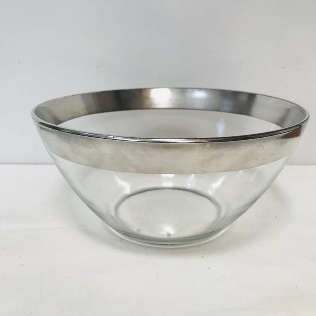Mid 20th Century Mid-Century Modern Dorothy Thorpe Sterling Silver Rimmed Bowl For Sale - Image 5 of 5