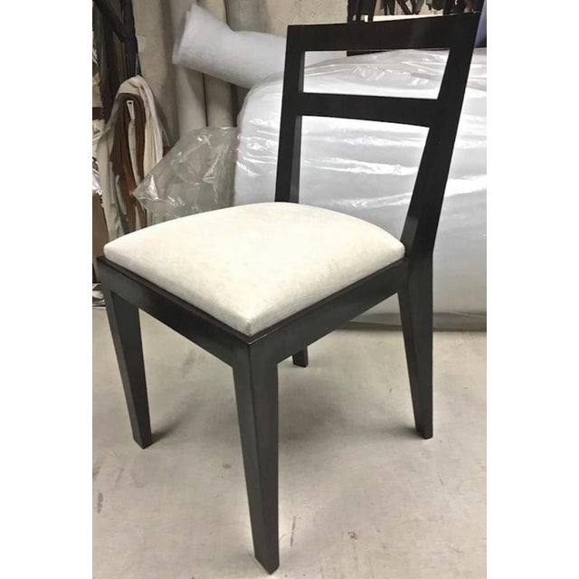 1950s Jean Royère Set of Four Chairs With Tapered Back and Front Legs For Sale - Image 5 of 6