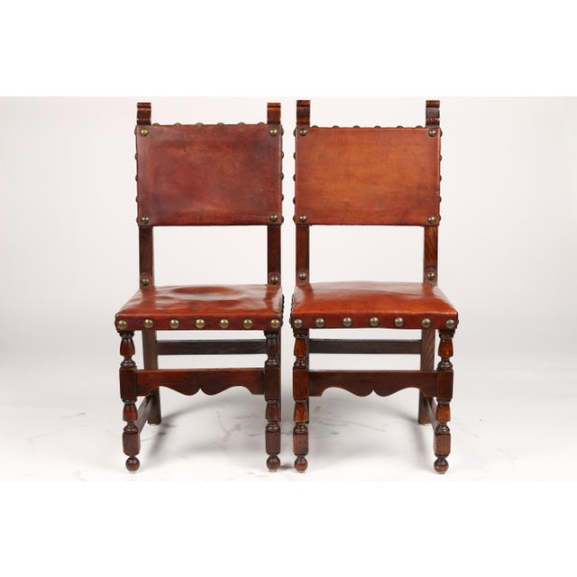 C.1900 Antique Spanish Chairs - A Pair - Image 2 of 9 - C.1900 Antique Spanish Chairs - A Pair Chairish
