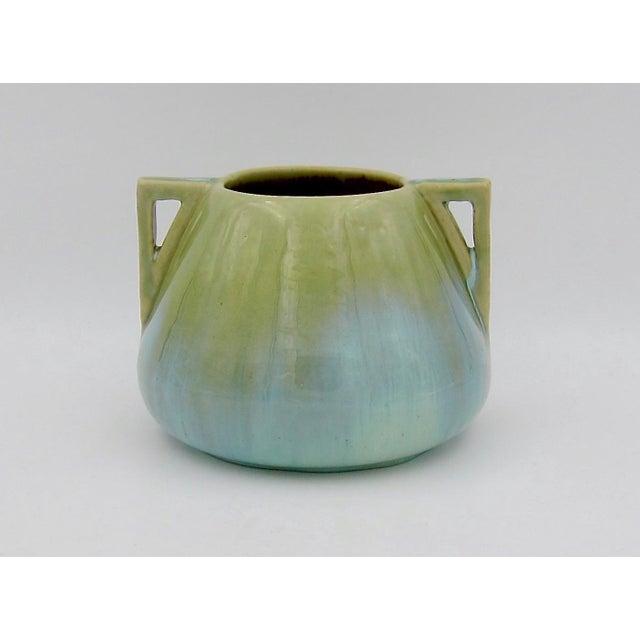Vintage Fulper Pottery Arts & Crafts Double Handled Vase With Flambé Glaze For Sale - Image 11 of 11