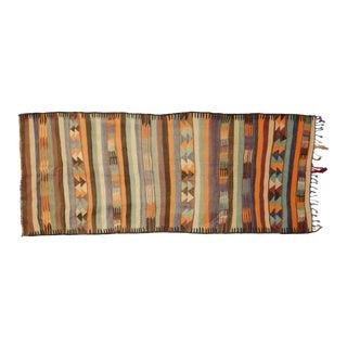 Vintage Berber Moroccan Kilim Rug - 05'00 X 12'02 For Sale
