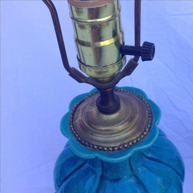 Chinese Vintage Turquoise Lamps - A Pair - Image 5 of 6