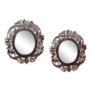 Fretwork Mirrors - A Pair For Sale
