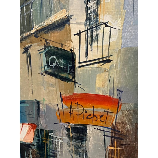 French Impressionist Street Scene Oil Painting For Sale - Image 4 of 7
