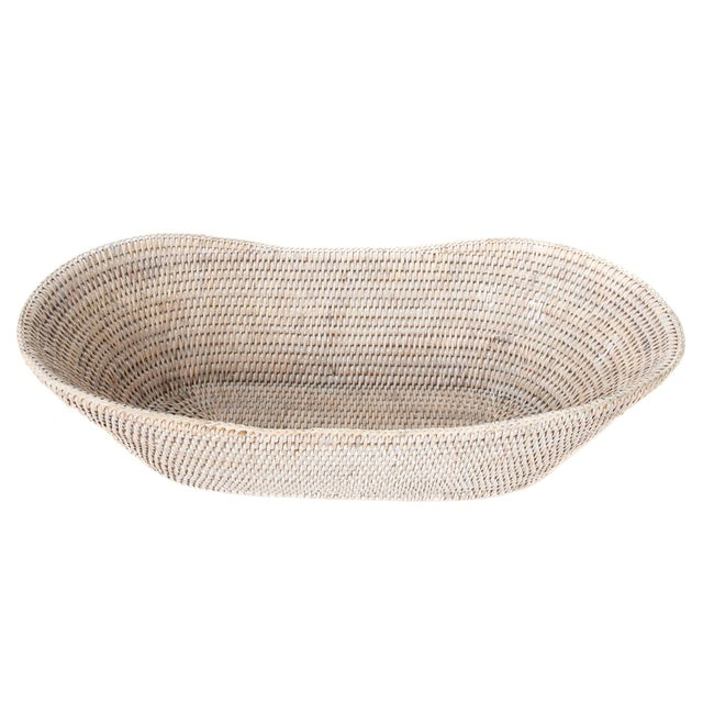Boho Chic Artifacts Rattan Bread Basket For Sale - Image 3 of 6