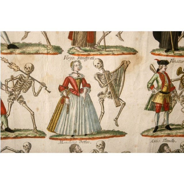 "19th Century German ""Dance With Death"" Aquatints Prints - a Pair For Sale - Image 9 of 10"