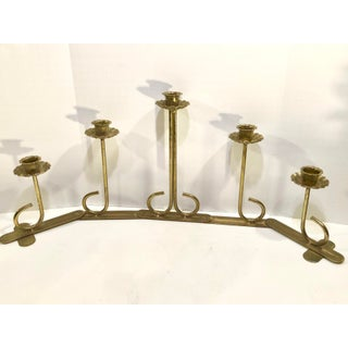 Vintage Brass Articulating Taper Candle Holder Preview