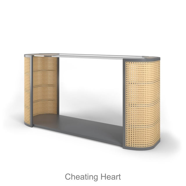 Lola Console Table - Cheating Heart Charcoal For Sale In Los Angeles - Image 6 of 6