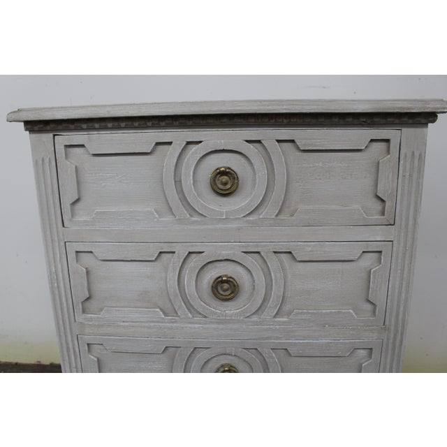 20th Century Vintage Swedish Gustavian Style Nightstands-A Pair For Sale - Image 4 of 10