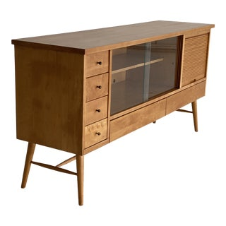 Mid Century Blonde Paul McCobb Buffet Credenza Buffet For Sale