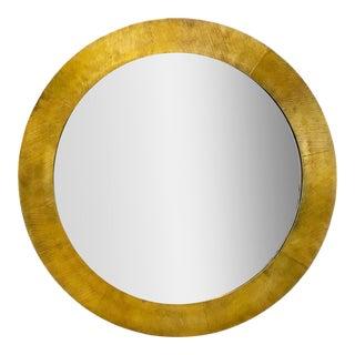Currey & Co. Modern Gold Seneca Wall Mirror For Sale