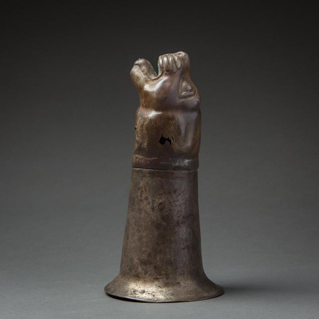 Silver Rhyton in the Shape of a Feline For Sale - Image 4 of 4