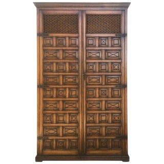 20th Century Kitchen Cabinet, Oak, Castillian Influence, Spain For Sale