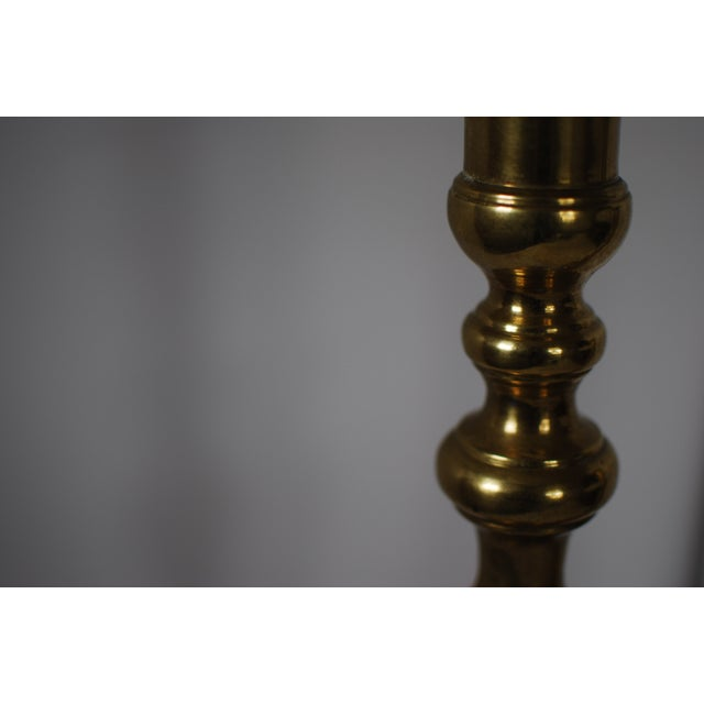 Vintage Brass Candlesticks - A Pair - Image 4 of 6