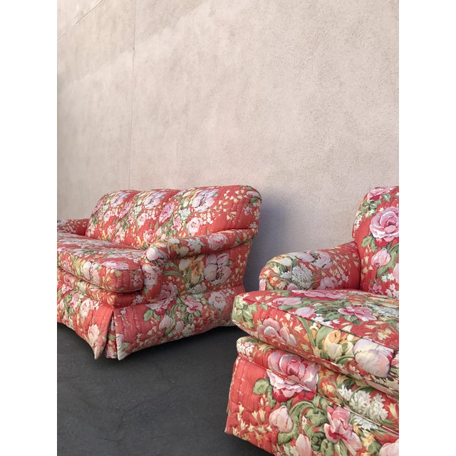 Vintage Floral Morris James Sofas - A Pair - Image 4 of 11