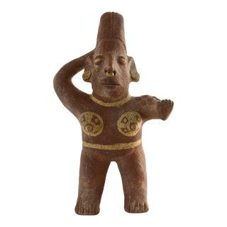 South American Terracotta Folk Idol For Sale