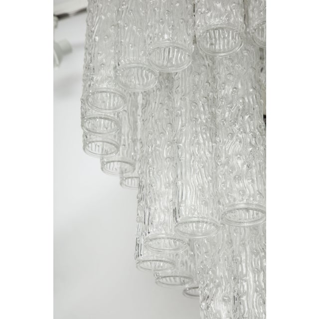 Mid 20th Century Murano Glass Tube Chandelier For Sale - Image 5 of 10