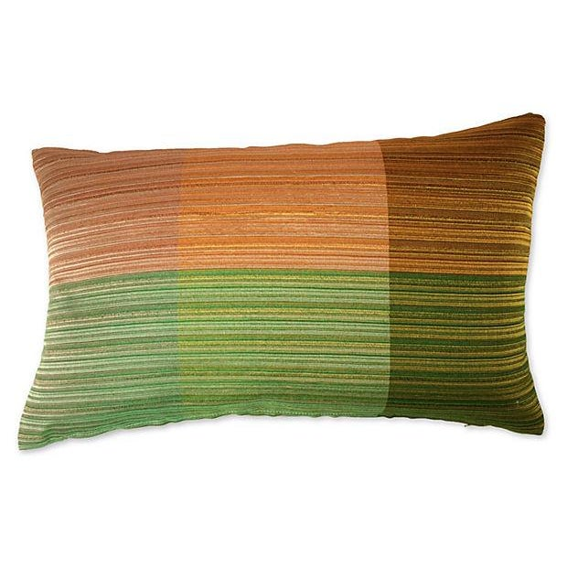 1960s Raw Silk Textile Pillow For Sale