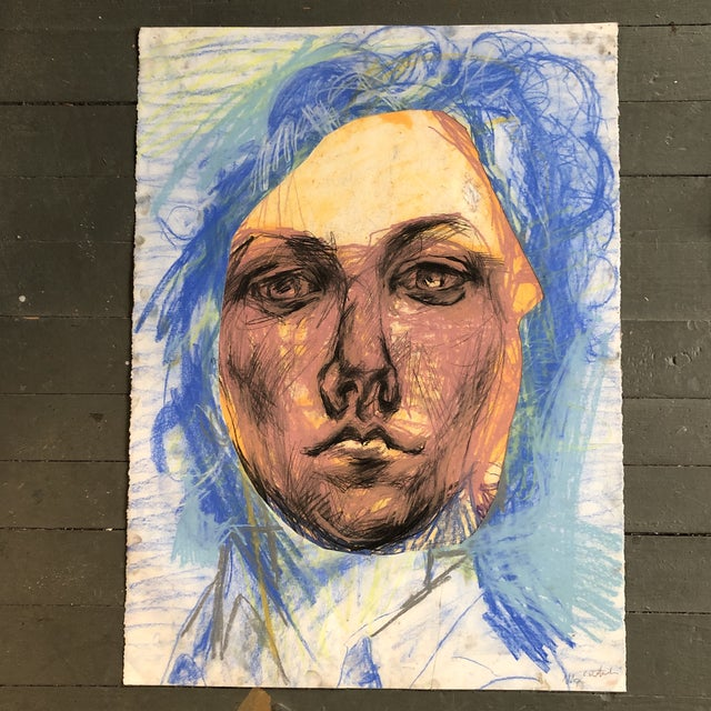 Original LargeContemporary Abstract Pastel Portrait Drawing For Sale In Philadelphia - Image 6 of 6