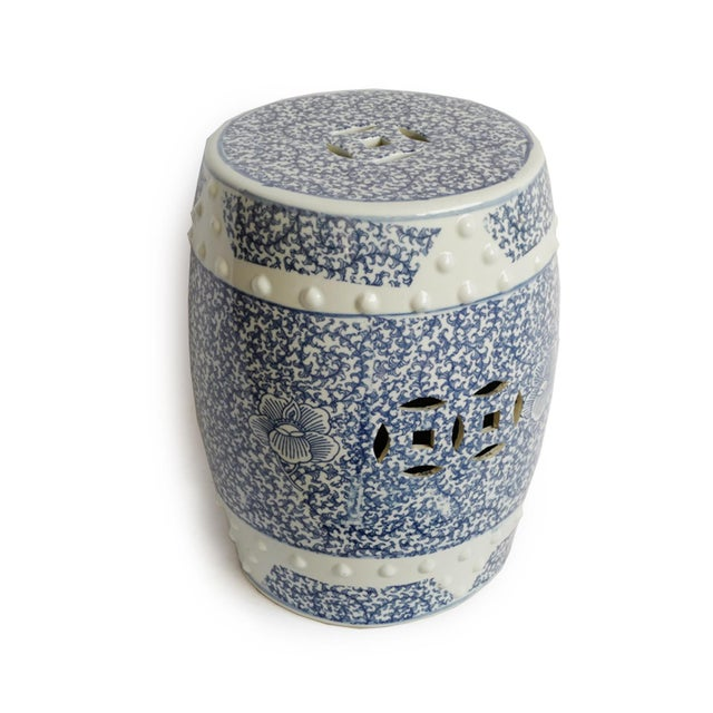 Beautiful hand painted blue and white ceramic garden stool. Perfect for indoors or outdoors with intricate detail all...