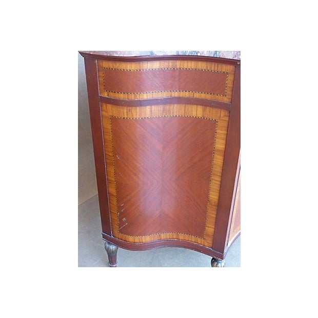 Marquetry & Inlay Marble Top Chest For Sale - Image 11 of 11