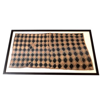 African Framed Velvet Kuba Cloth