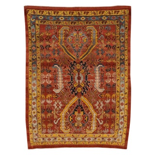 "Vintage Persian Tribal Bakshaish Rug, 7'6"" X 10'5"" For Sale"