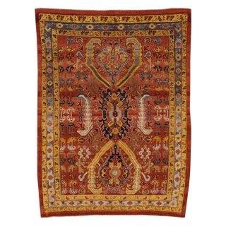 "Vintage Persian Tribal Bakshaish Rug, 7'6"" X 10'5"" For Sale"