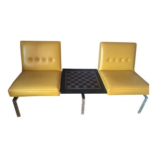 Mid Century Modern Steelcase 2 Seat Sofa Bench For Sale