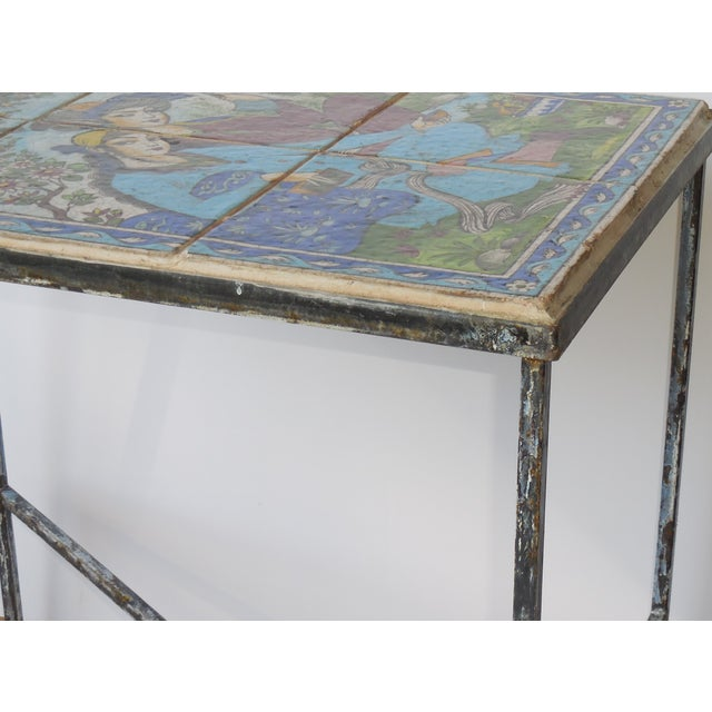 Vintage Persian Tile Coffee Table - Image 3 of 11