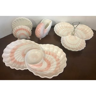 Fitz & Floyd Pink Shell Serving Dishes - Set of 4 Preview
