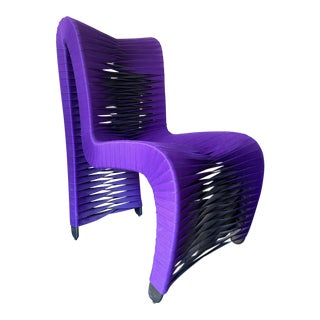 Modern Seat Belt Dining Chair From Phillips Collection For Sale