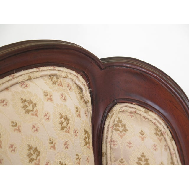 DREXEL HERITAGE French Louis XV Style Upholstered Chair Age: Approx: 25 Years Old Details: Nice Carved Details Quality...