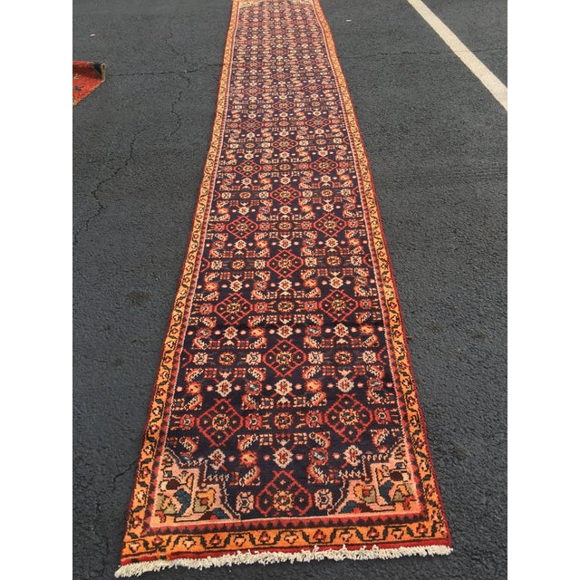 "Vintage Persian Malayer Runner - 2'4"" x 14'4"" - Image 8 of 10"