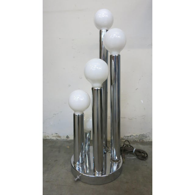 Sonneman Style Chrome Ball Table Lamp, by Torino Italy For Sale - Image 4 of 10