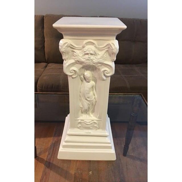 Vintage White Greek Pedestal Column - Image 7 of 7