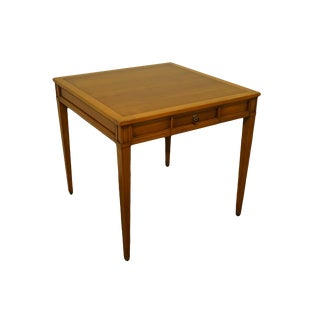 "Italian Hekman Furniture 31"" Square Accent Game Table For Sale"