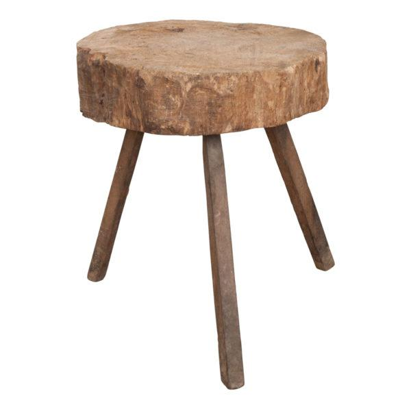 """Brown French 19th Century Provincial """"Tree-Trunk"""" Chopping Block Stool For Sale - Image 8 of 8"""
