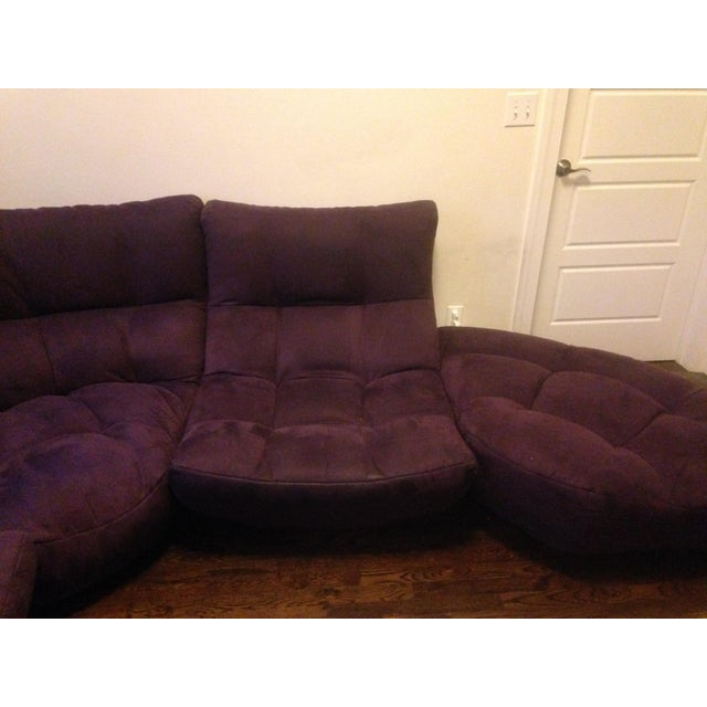 4-Piece Curved Sectional Sofa For Sale In New York - Image 6 of 9